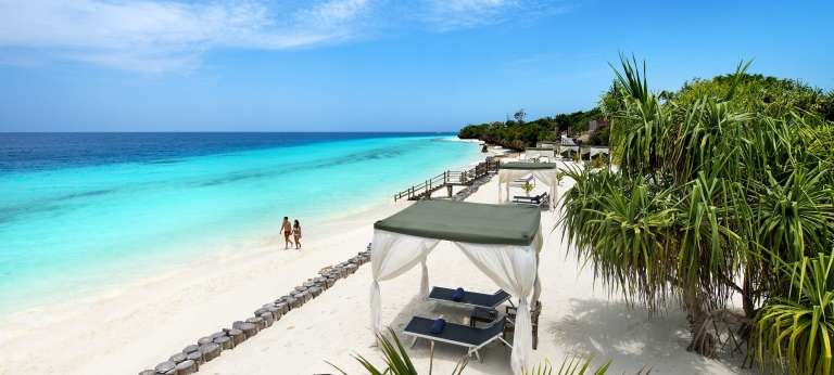 The drawcard for many to Kenya is it's variety in beautiful landscapes, here is a powdery beach in Zanzibar